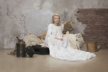 Portrait of woman sitting