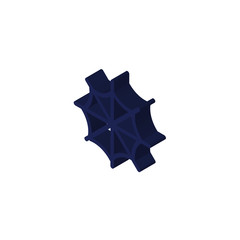 Cobweb isometric right top view 3D icon