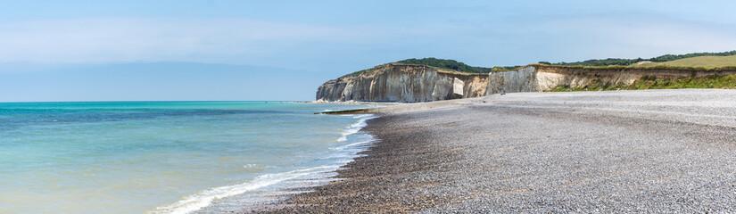 Plage de Sainte-Marguerite-sur-Mer, Normandie Fototapete