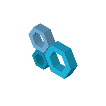 Honeycomb isometric right top view 3D icon