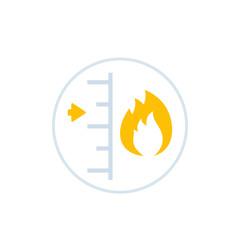 heat level vector icon