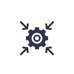 Integration process, technology icon with cogwheel