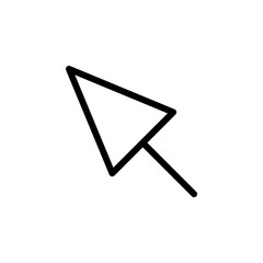 Mouse cursor click outline icon
