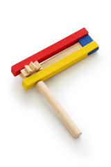 gragger, grogger, noise maker, a type of ratchet for used in Purim celebration in Jewish tradition.
