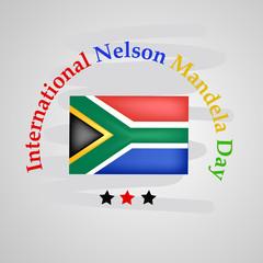 Illustration of background for Nelson Mandela Day