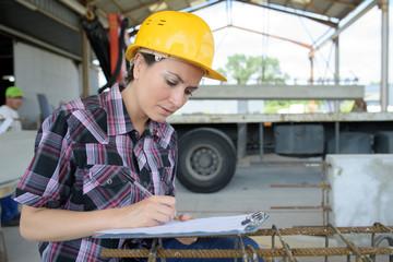 portrait of worker in factory