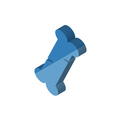 Human Bone isometric right top view 3D icon