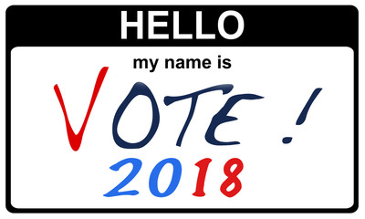 hello my name is vote 2018