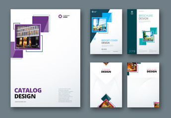 5 Catalog or Brochure Cover Layouts