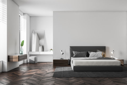 Luxury white bedroom interior