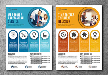 Business Flyer Layout in Two Colors