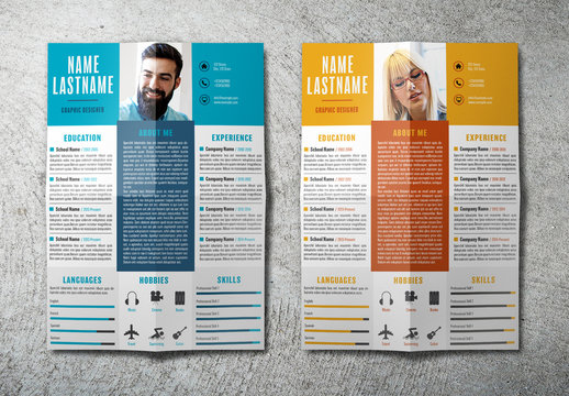 Resume Layout in Two Colors
