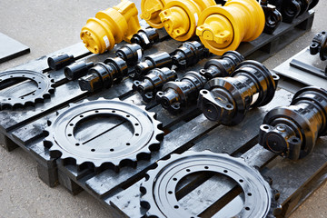 Spare parts chassis of construction machinery