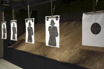 Fototapeta Strzelnica. tarcza strzelecka na strzelnicy sportowej