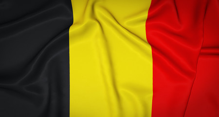 Belgium National Flag 3D Background