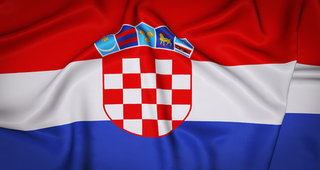 Croatia National Flag Background.