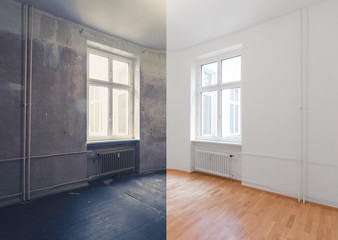 renovation before and after  - real estate interior