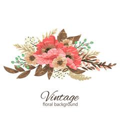 Flowers background illustration. Manual composition. Spring. Summer.