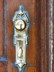Ancient brass door fitting