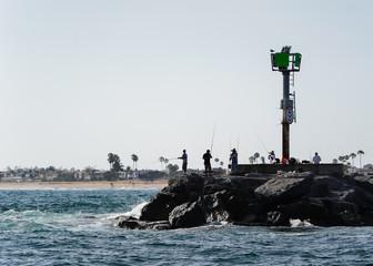 Fishermen - Fishing - Beach - Orange County - California