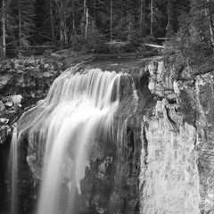 Paulina Creek goes over its falls in Central Oregon