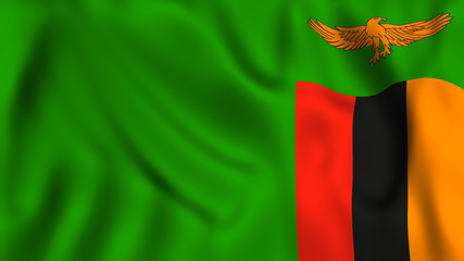 Zambia flag waving symbol