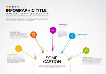 Infographic Layout with Bright Droplet Callouts