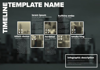 Timeline Layout with City Image