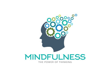 Mindfulness Brain Imagination Logo Vector Illustration