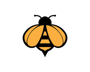 Bee animal  icon. Honey flying bee. Insect.bugs,insects and arachnids Flat style vector illustration.