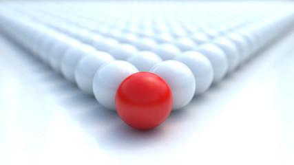 leadership sphere 3d rendered image