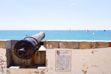 old cannon in Sitges