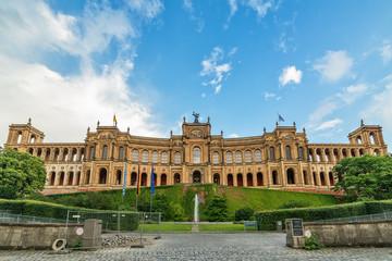 Munich, Germany June 09, 2018:  Maximilianeum - Bavarian state parliament.