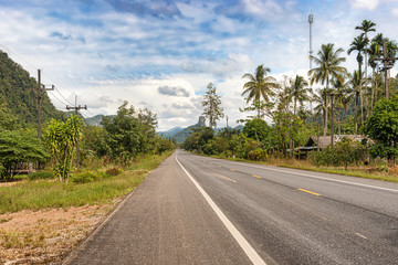 Picturesque landscape in Southern Thailand  in Trang district.