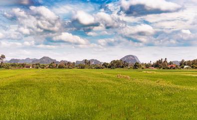 Rural landscape near the border with Thailand at Wang Kelian.