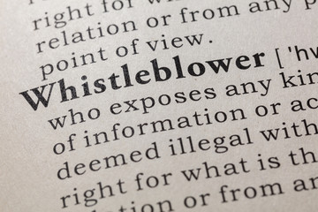 Wall Mural - definition of whistleblower