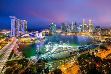 Fotomurales - Singapore downtown skyline