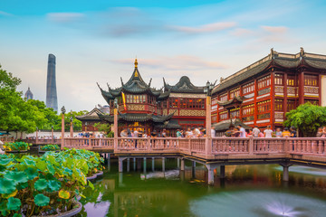 Wall Murals Asian Famous Place Shanghai, China view at the traditional Yuyuan Garden District