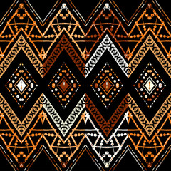 Geometric decorative seamless pattern
