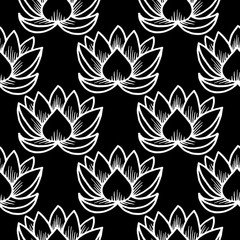 Lotus. Seamless pattern. Oriental, Traditional