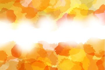 秋をイメージした抽象的背景(水彩画タッチ)