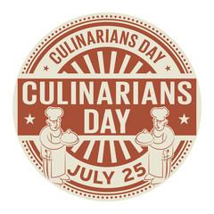 Culinarians Day,  July 25