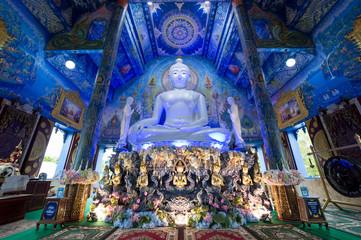 Chiang Rai, Thailand - July, 8, 2018 : the very beautiful landscape inside the temple of Wat Rong Sua Ten Fototapete