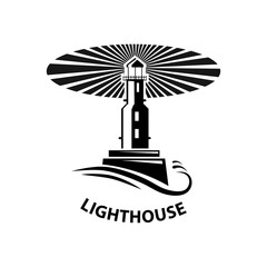 vector image of the lighthouse