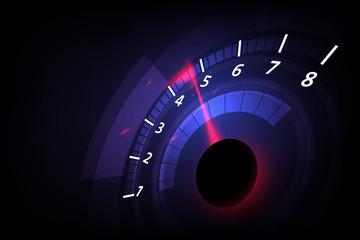 Fototapeta Speed motion background with fast speedometer car. Racing velocity background. obraz