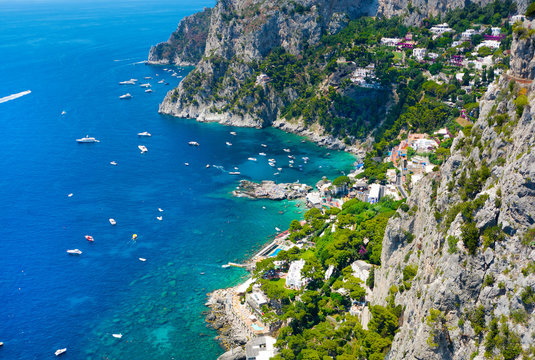 Beautiful summer day in Capri island, Italy