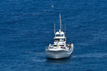 海上の釣り船