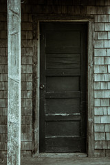 Maine Old Wood Door