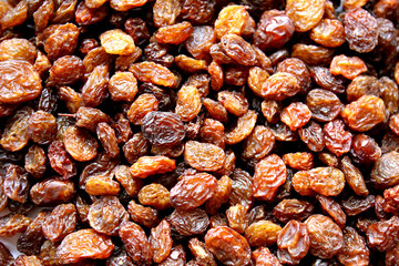 background many raisins tasty brown color texture