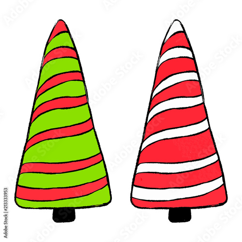 Christmas Candy Clipart.Xmas Seasonal Collection Christmas Candy Clipart Isolated